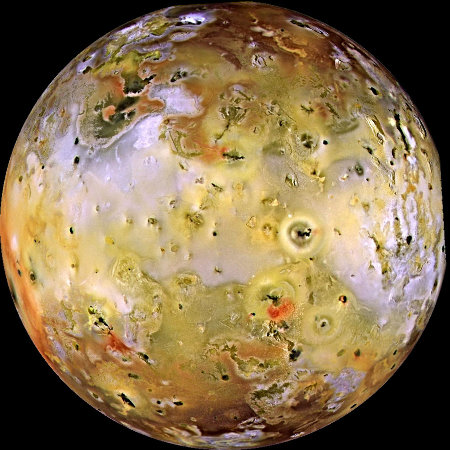 Io, vue générale de ce satellite silicaté de Jupiter