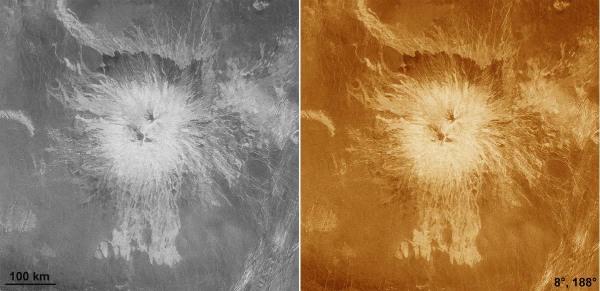 Le volcan Sapas Mons, prototype du volcan bouclier sur Vénus