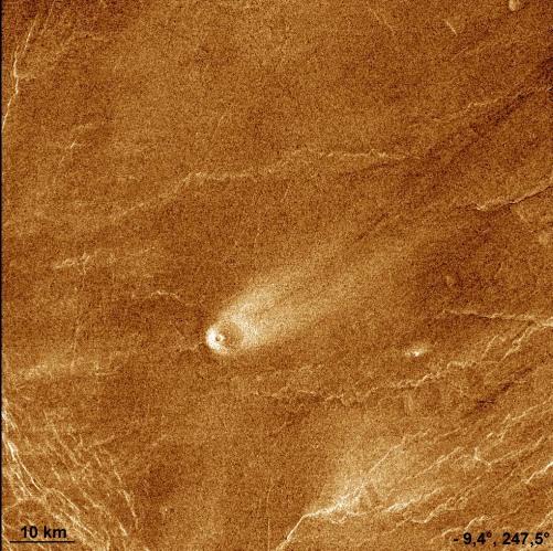 Petit cône «strombolien» isolé sur Vénus