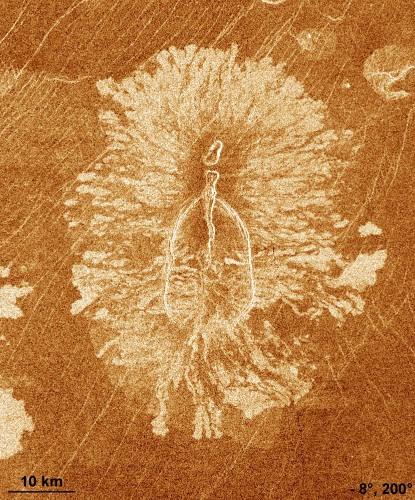 Volcan de type «anémone» sur Vénus