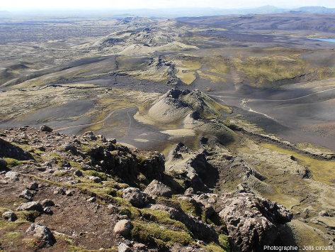 Vue sur un fragment de la fissure du Lakagigar (Islande)