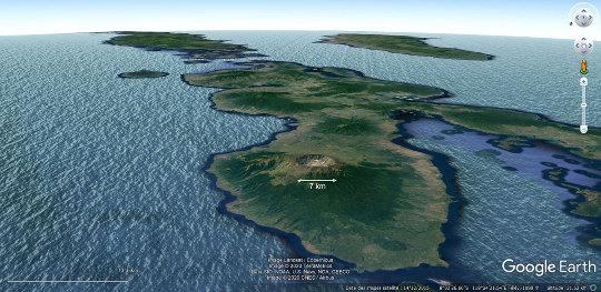 Vue aérienne de l'ile de Sumbawa, Indonésie