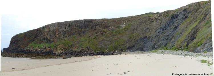 Panorama, depuis la plage de la Palue, de la partie Sud de la pointe de Lostmarc'h