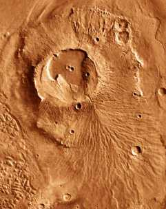 Exemple de lac de lave sur Mars