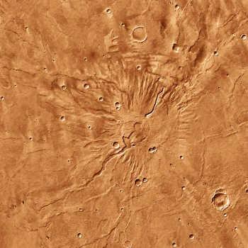 Le Tyrrhena Patera et ses vallées radiales