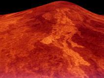 Volcan sur Vénus : le volcan Sif Mons